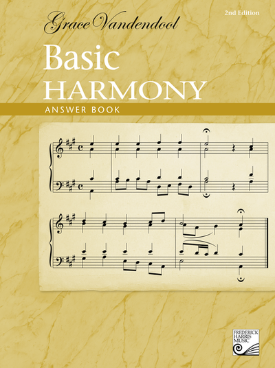 Basic Harmony, Answer Book 2nd Ed - Grace Vandendool