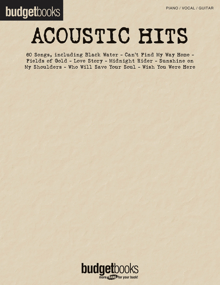 Budget Books Acoustic Hits