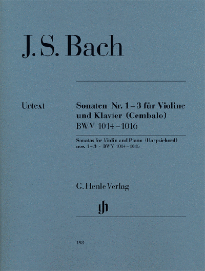 Sonatas for Violin and Piano (Harpsichord) 1-3 BWV 1014-1016