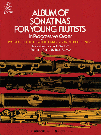 Album of Sonatinas for Young Flutists Moyse