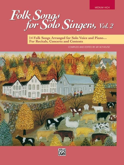 Folk Songs for Solo Singers, Vol. 2: Medium-High Voice Book