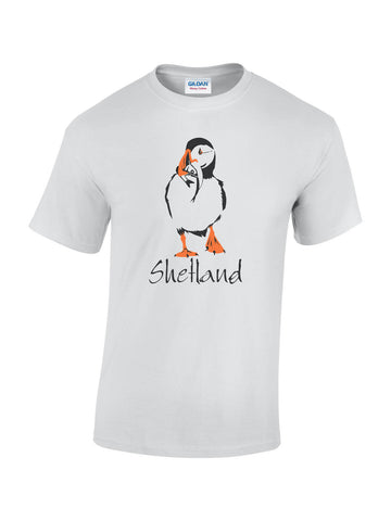 T-shirt with Puffin Print
