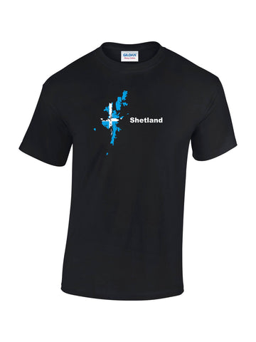 T-shirt with Shetland Map Print