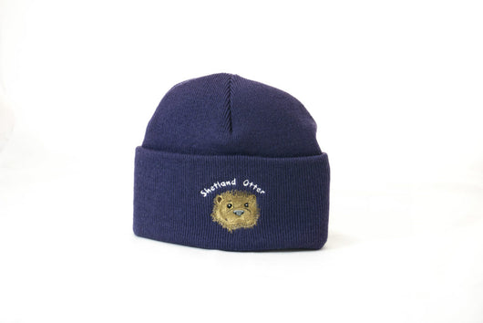 Cuffed Beanie with Otter Embroidery