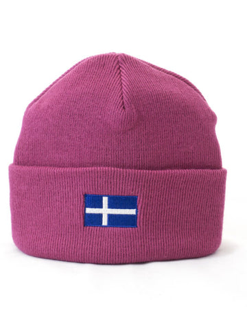 Cuffed Beanie with Shetland Flag Oblong Embroidery