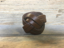 Double Plaited Light Brown Leather Scout Woggle