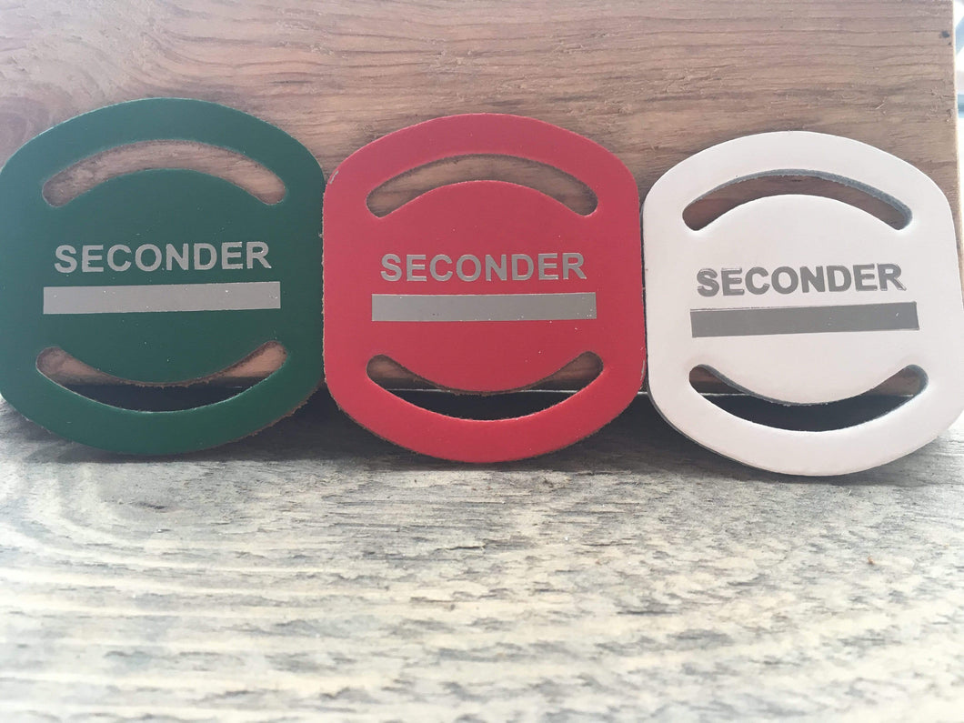 CS Leathercraft Cub Scout Woggle Red Leather Scout Slider - Super 'Seconder' Leather Neck Slide - £2.00 FREE P&P