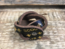 CS Leathercraft Scout Woggle Leather Scout Woggle - Plaited & Gold Printed Leather Scout Woggle - £2.50 FREE P&P