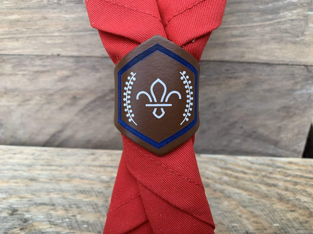 The Woggle Makers Scout Woggle Beaver Scout Leather Woggle - Chief Scout BRONZE Award Leather Woggle - £2.00 FREE P&P
