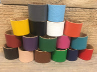 The Woggle Makers Scout Woggle Grey 20p Biodegradable Leather Woggles - 100% genuine Leather Loop Scout Woggles