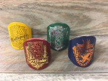 The WoggleMakers CS Leathercraft Hogwarts Crest Leather Scout Woggles - Harry Potter House Woggles/Hufflepuff/Gryffindor/Slytherin/Ravenclaw/Hogwarts - £2.50 FREE P&P