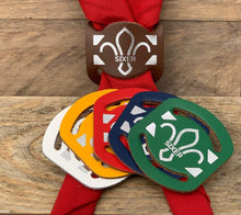 The WoggleMakers Cub Scout Woggle Leather Cub Scout Woggle - Fluer De Lis 'Sixer' Leather Cub Scout Neck Slide - £2.00 FREE P&P