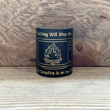 The WoggleMakers Scout Woggle Black 'Nothing Will Stop Me - My Campfire is on my TV' - Limited Edition 2020 Leather Scout Woggle.