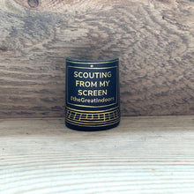 The WoggleMakers Scout Woggle Black 'Scouting From My Screen' - Limited Edition 2020 Leather Scout Woggle.