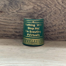 The WoggleMakers Scout Woggle Green 'Scouting From My Screen' - Limited Edition 2020 Leather Scout Woggle.