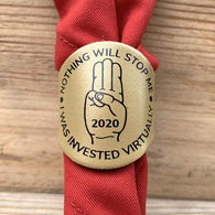 The WoggleMakers Scout Woggle 'Nothing will Stop Me - I was Invested Virtually' - Limited Edition 2020 Leather Scout Woggle