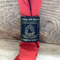 The WoggleMakers Scout Woggle 'Nothing Will Stop Me - My Campfire is on my TV' - Limited Edition 2020 Leather Scout Woggle.