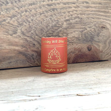 The WoggleMakers Scout Woggle Orange 'Nothing Will Stop Me - My Campfire is on my TV' - Limited Edition 2020 Leather Scout Woggle.