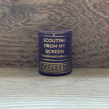 The WoggleMakers Scout Woggle Purple 'Scouting From My Screen' - Limited Edition 2020 Leather Scout Woggle.