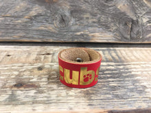 The WoggleMakers Scout Woggle Red Cub Scout Leather Woggle - Leather Cub Scout Woggle with gold print -£1.50 FREE P&P