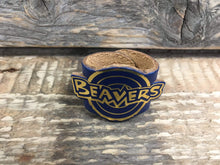 The WoggleMakers Scout Woggle Royal Blue Beaver Scout Leather Woggle - Fun Beaver Scout Woggle with gold print - £2.50 FREE P&P