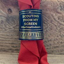 The WoggleMakers Scout Woggle Royal Blue 'Scouting From My Screen' - Limited Edition 2020 Leather Scout Woggle.
