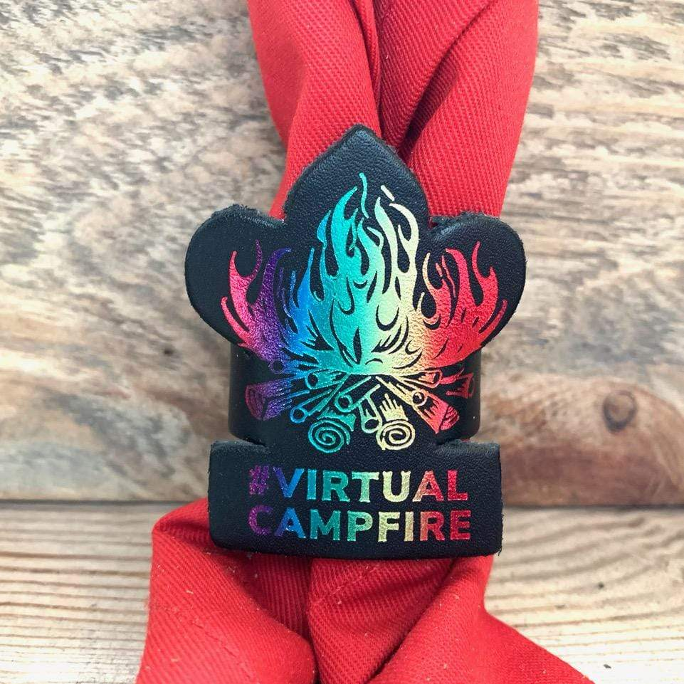 The WoggleMakers Scout Woggle #VirtualCampfire Leather Scout Woggle - Limited Edition 2020 Leather Scout Woggle.