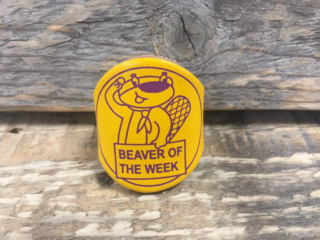 The WoggleMakers Scout Woggles Beaver Scout Leather Woggle - Fun 'Beaver of the Week' Leather Beaver Scout Woggle - £2.50 FREE P&P
