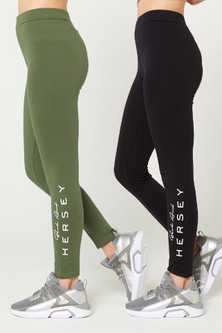 ERIS Leggings (2 Pack Set) Black/Khaki