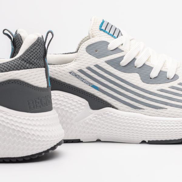 STRIKE Trainer - White/Soft Grey/Aqua