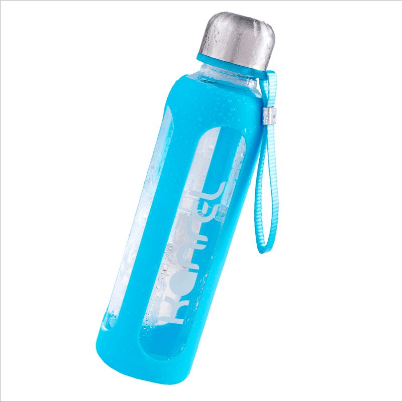 20oz Glass Water Bottle by Kanrel (Blue)