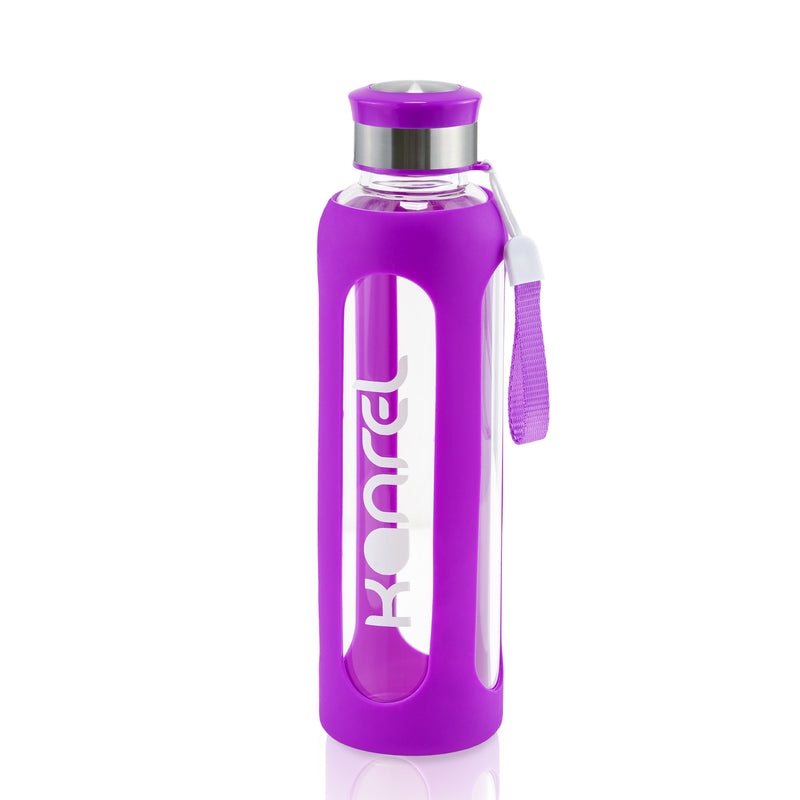 Glass Gym Bottle by Kanrel 20oz (Purple)