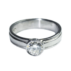collet-diamond-plain-engagement-ring