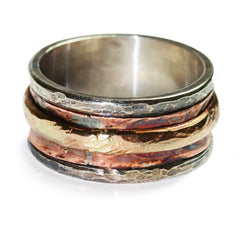 copper-silver-gold-ring