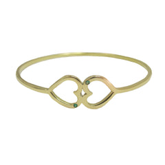 double-heart-emerald-bangle