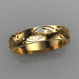 engraved-yellow-gold-wedding-bands