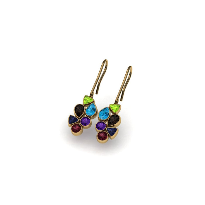 Tutti-Frutti Earrings Style 3 - BMG Bespoke Jewellery