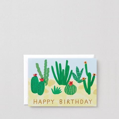 Carte Happy Birthday Cactus