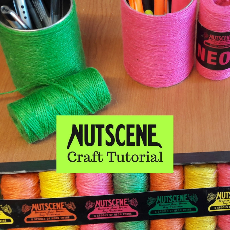 "Nutscene 1922 presents ""DIY Desk Tidy Twine Tutorial"""