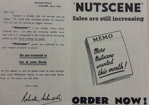 Nutscene Advert 1930's