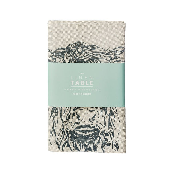 Scottish Linen Table Runners With Highland Cow Or Stag