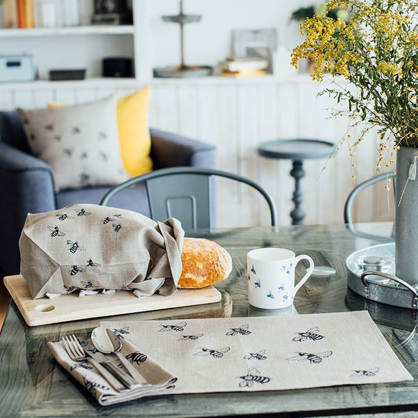 Honey Bee pure linen napkins- Sheila Maid 100% linen made in the UK