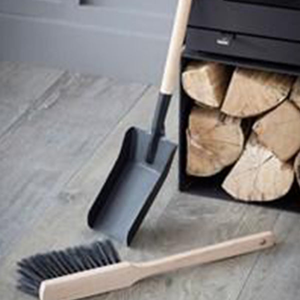 Jutland Fireside Dustpan and Brush- Steel