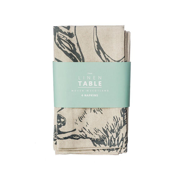 Scottish Linen stag napkins