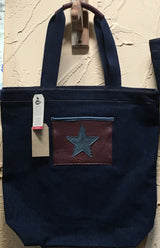 Rancho Madonna Bison Trimmed denim Shoulder Bags