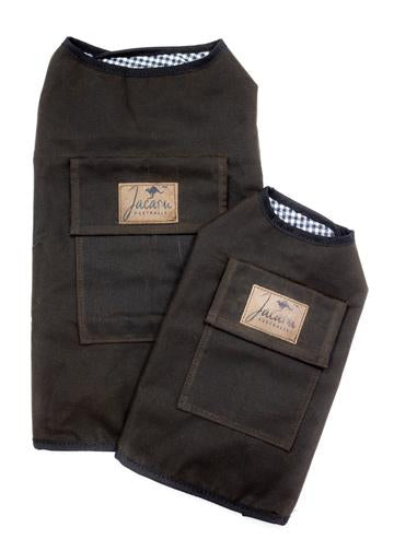 Jacaru Oilskin cotton Dog Coat