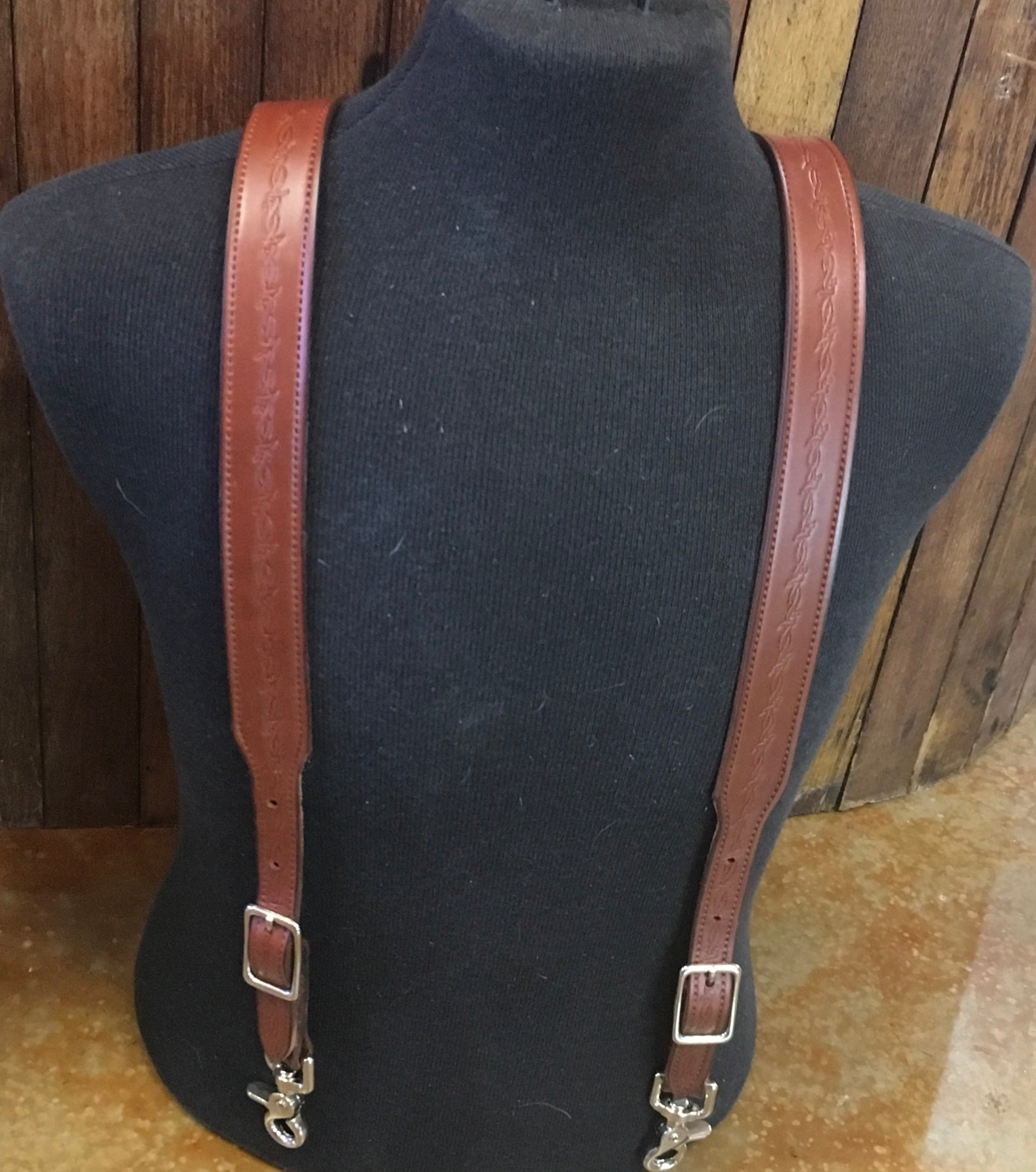 """Barb Wire"" Saddle Suspenders"