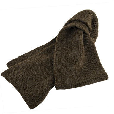 Bison Down Knit Scarf, Natural Brown