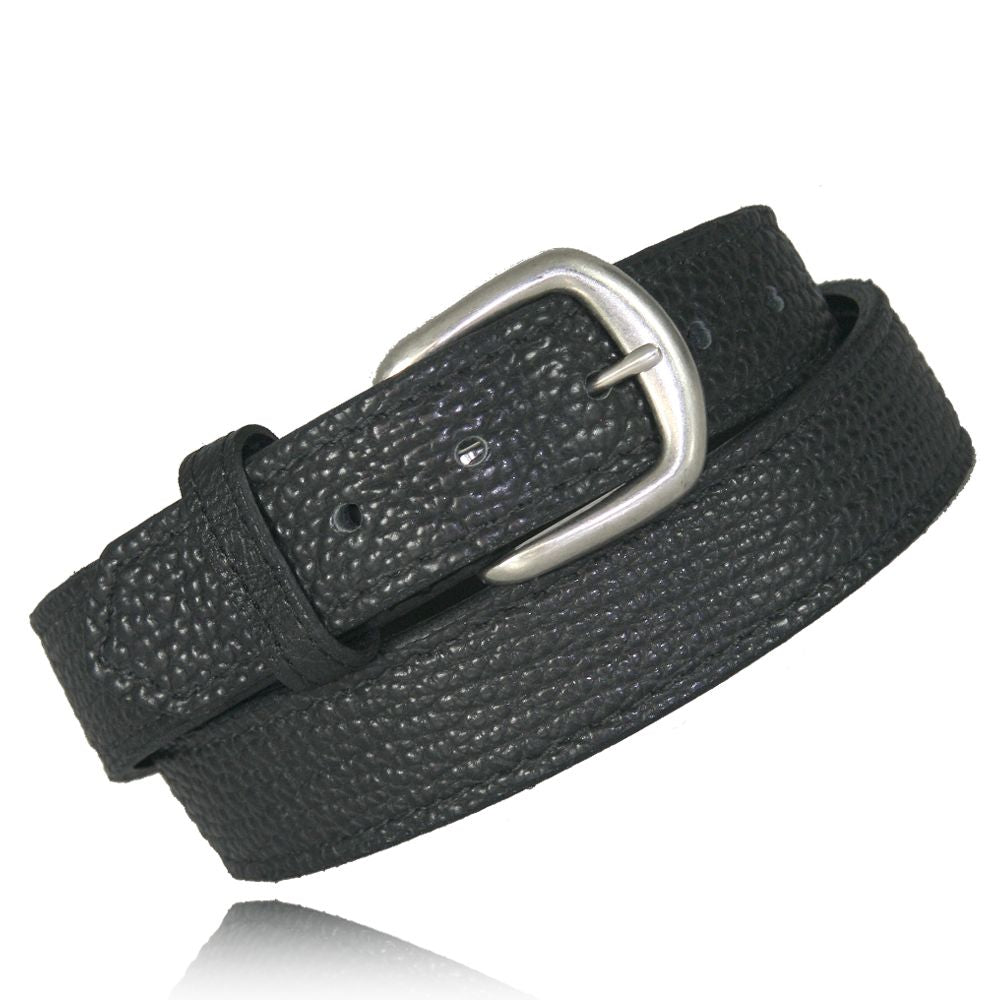 Saddle Stitch Bison Leather Belt from Boston Leather