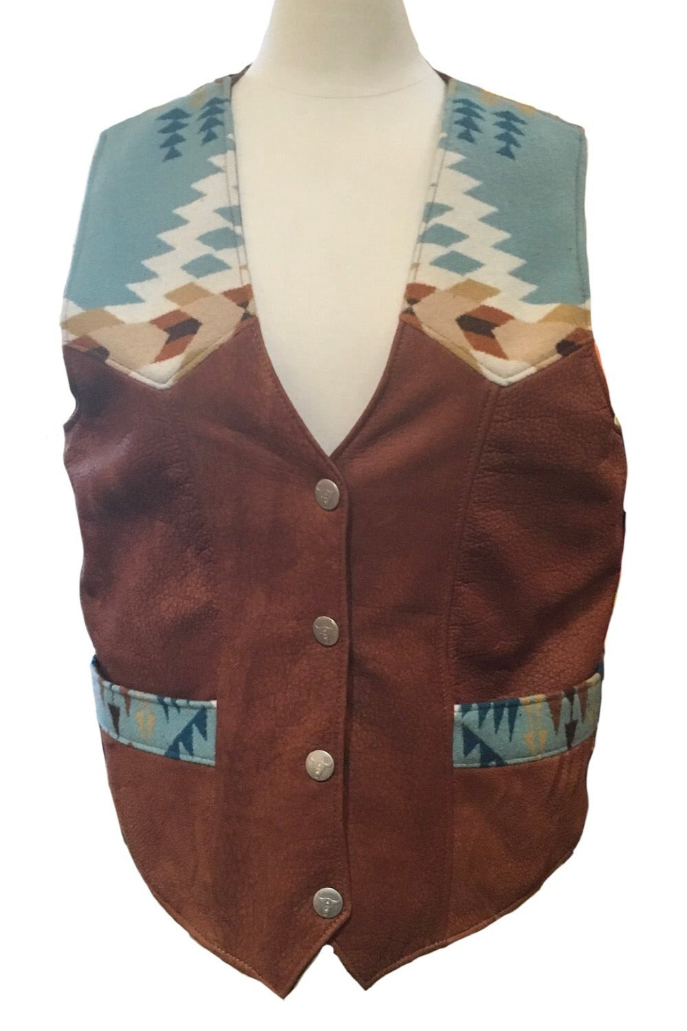 Mens and Womans - American Bison Leather with Pendleton Wool Vests